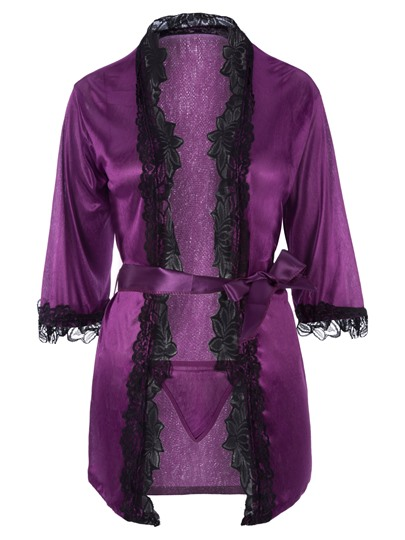 Half Sleeve Cardigan Meryl Robe with Thong