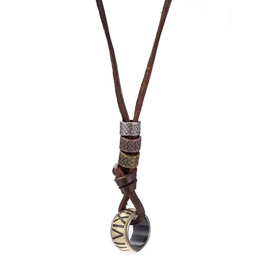 Rope Chain Alloy Bronze Plated Vintage Pendant Necklace