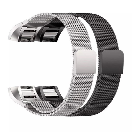 Magnetic Fitbit Charge 2 Replacement Stainless Steel Smart Band Strap