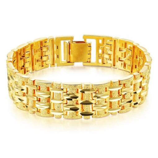 Bracelet luxueux en alliage plaqué or 18 carats