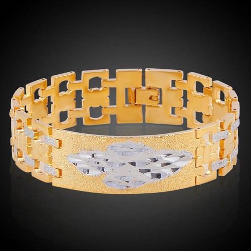 Hollow Out 18K Bronze Bicolors Hyperbole African Bracelet