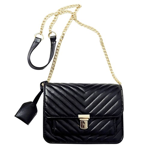Casual Quilted Lining Women PU Cross Body Bag