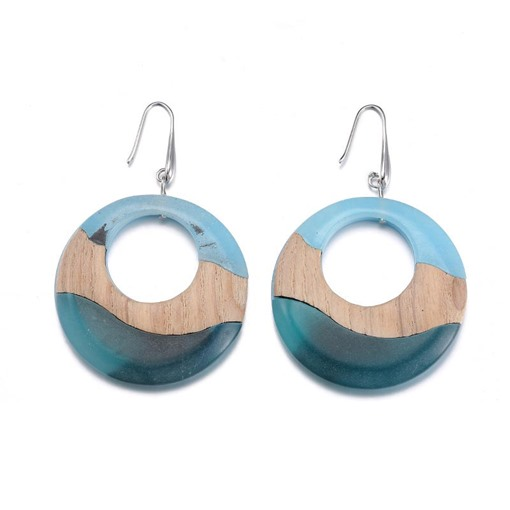 Patchwork Color Block Winter Acrylic Earrings