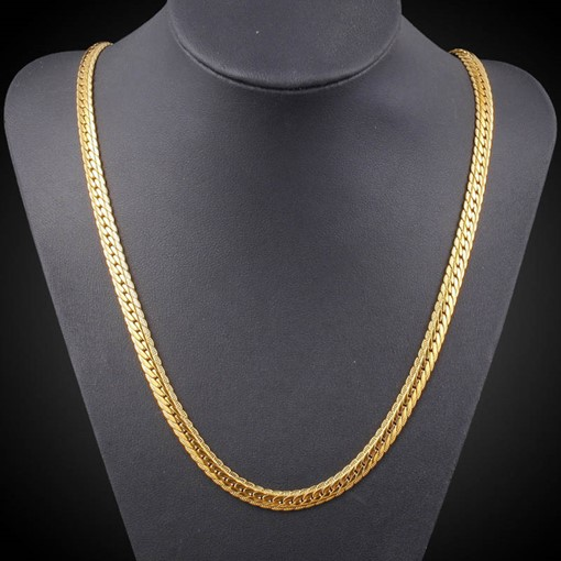 African Ethnic Overgild Diamante Men's Necklace