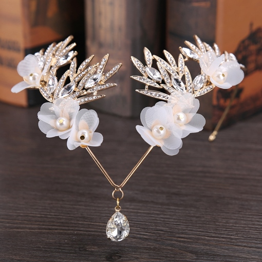 Wedding Pear Design Imitation Pearl Hair Accessories