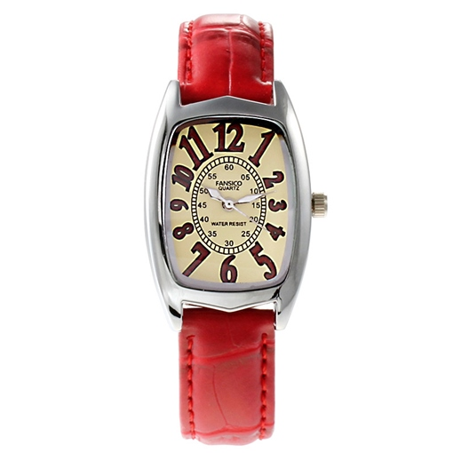 Pin Buckle Artificial Leather Strap Quartz Watches