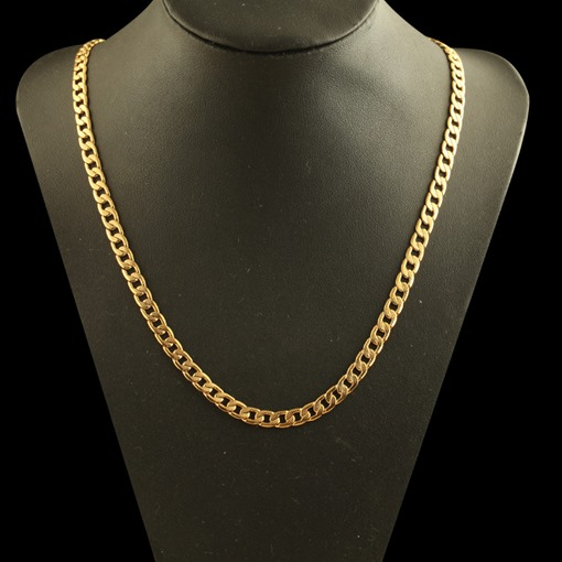 Popular 18K Overgild Figaro Chain African Men's Necklace