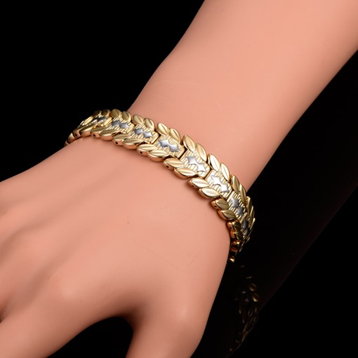 18K Bi-Color Gold Plated Bronze African Bracelet