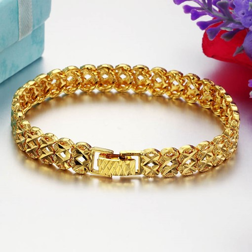 Hollow Out 18K Gold Plated Religion African Bracelet