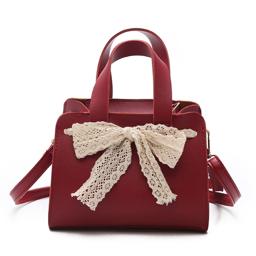 Ladylike Lace Bowknot Decoration Women Tote