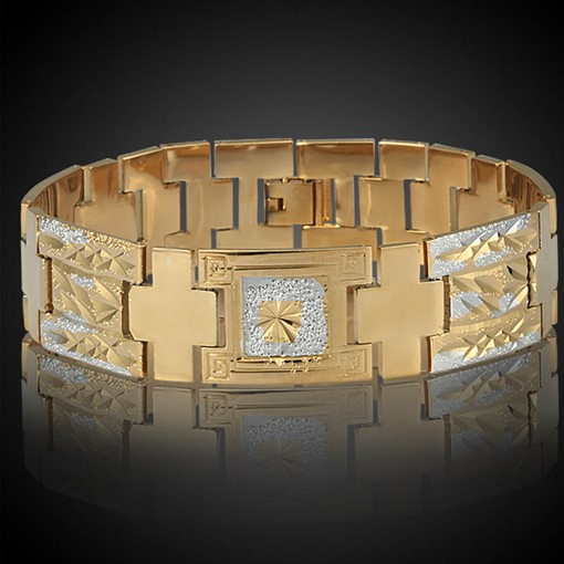 Bicolors 18K Gold Plated Hot Sale African Bracelet