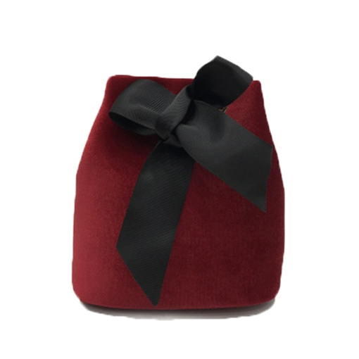 Lovley Velvet Bowknot Cross Body Bag