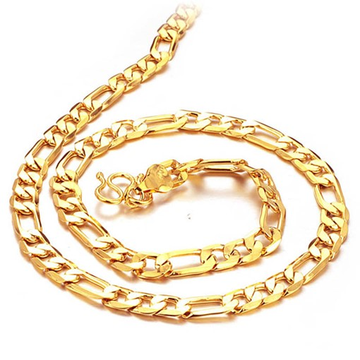 E-Plating 18K African Ethnic Simple Men's Necklace