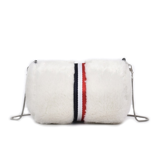 Solid Color Soft Plush Cross Body Bag