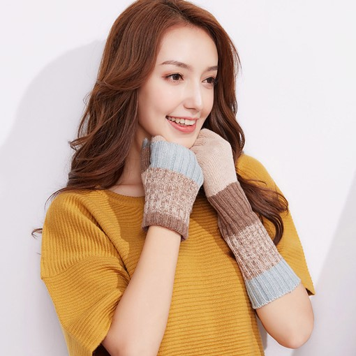 Collapsible Knitting Wool Touch Screen Gloves