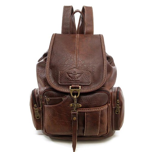 Vintage Soft PU Women Backpack