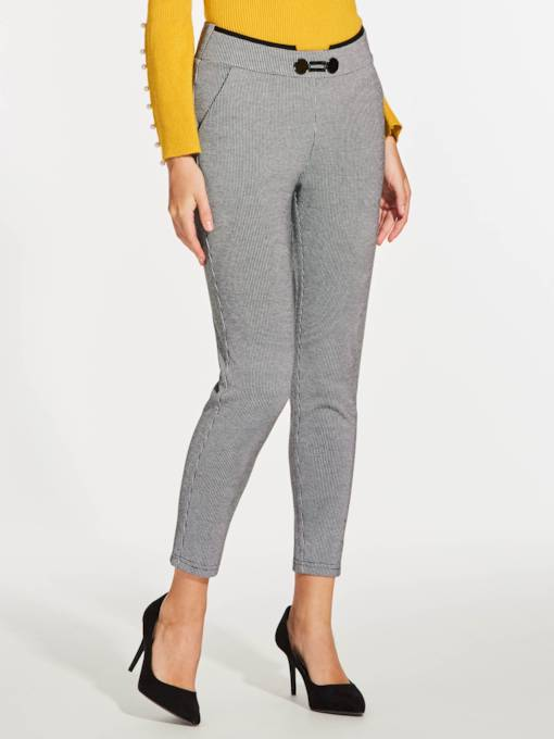 Loose High Waisted Pocket Women's Work Pants