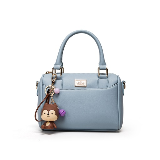 Korean Style Cartoon Pendent Solid Color Handbag