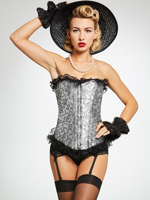 Floral Lace-Up Body Shape Corset