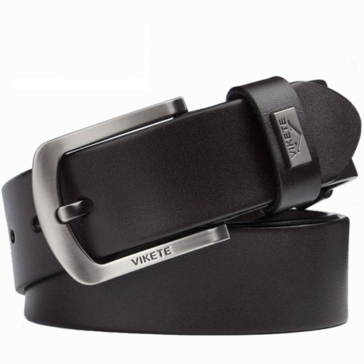 All Match Cowhide Glossy Pin Buckle Men's Belts