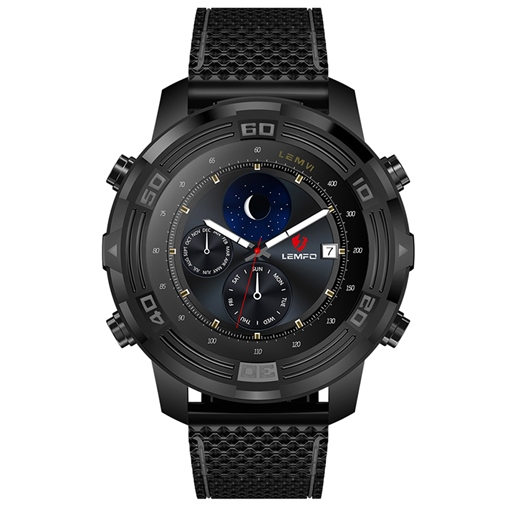 LEMFO LEM6 Android Smart Watch Phone 3G Network 1GB+16GB with Wifi/GPS/Compass/Weather