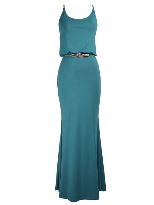 Lake Blue Strappy Women's Maxi Dress