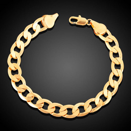 Hollow Out Figaro Chain 18K Vintage African Bracelet