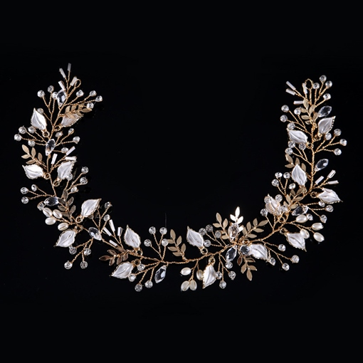 Rhinestone Inlaid Leaf Hair Accessories