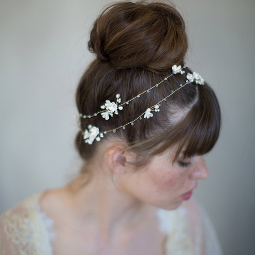 White Flower Synthetic Pearl Hairpin Accessories