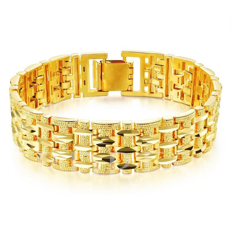 Image of 18K Gold Plated Hollow Out Alloy Luxurious African Bracelet