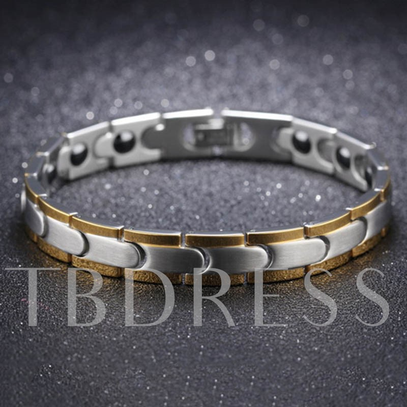 Image of Silver Plated Stainless Steel Overgild African Bracelet