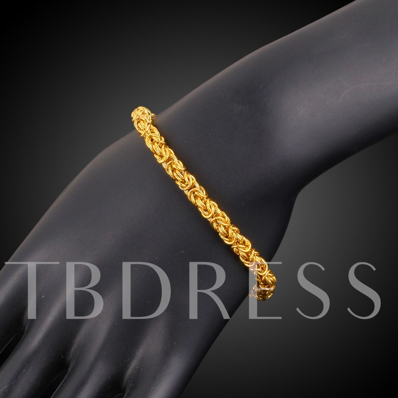 Image of Bronze 18K Gold Plated Lobster Clasp African Bracelet