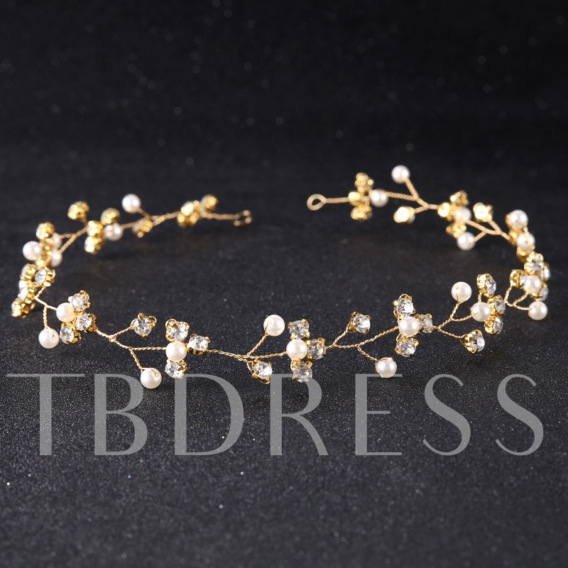 Copper Wire Glass Inlaid Hair Clasp Accessories