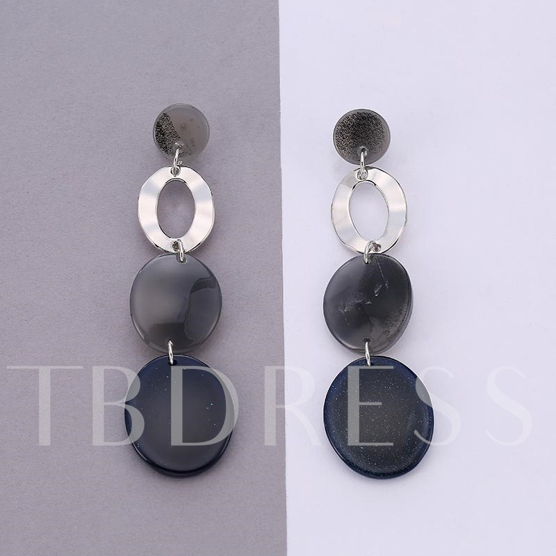 European Round Hollow Out Acrylic Earrings