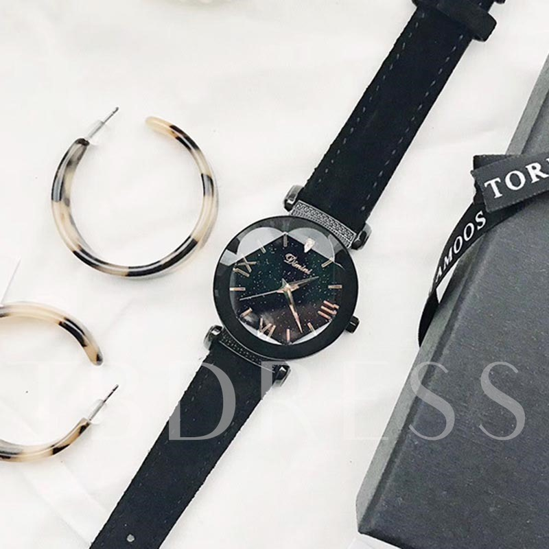 Starry Sky Artificial Leather Strap Quartz Watches