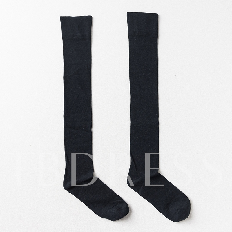 Solid Length Socks Women's