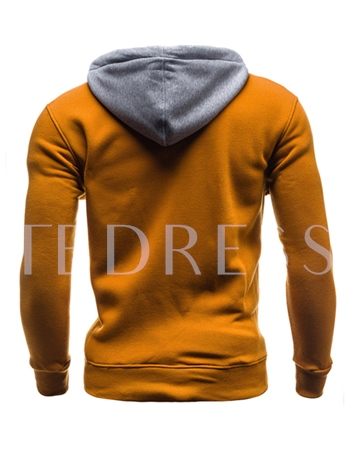 Hooded Color Block Zipper Slim Fit Cardigan Men's Casual Hoodie