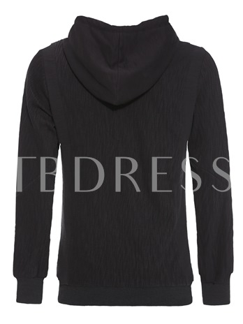 Hooded Pullover Solid Color Casual Men's Hoodie