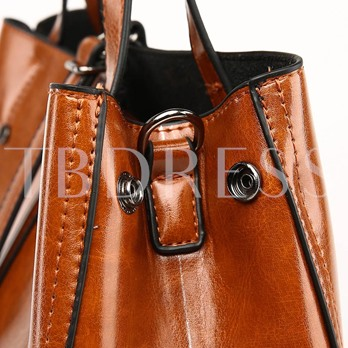 Concise Solid Color Hobos Tote
