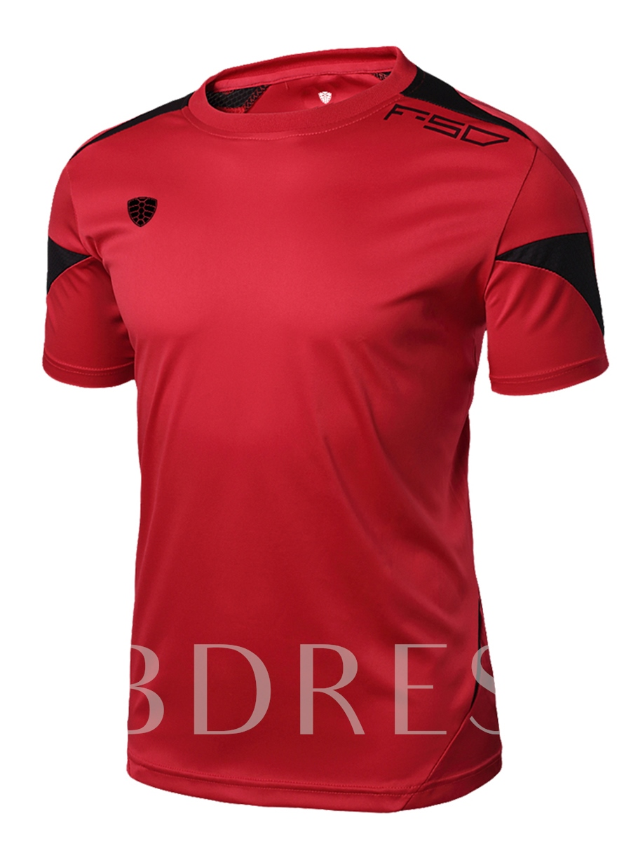 Men's Round Collar Leisure Short Sleeve T-shirt