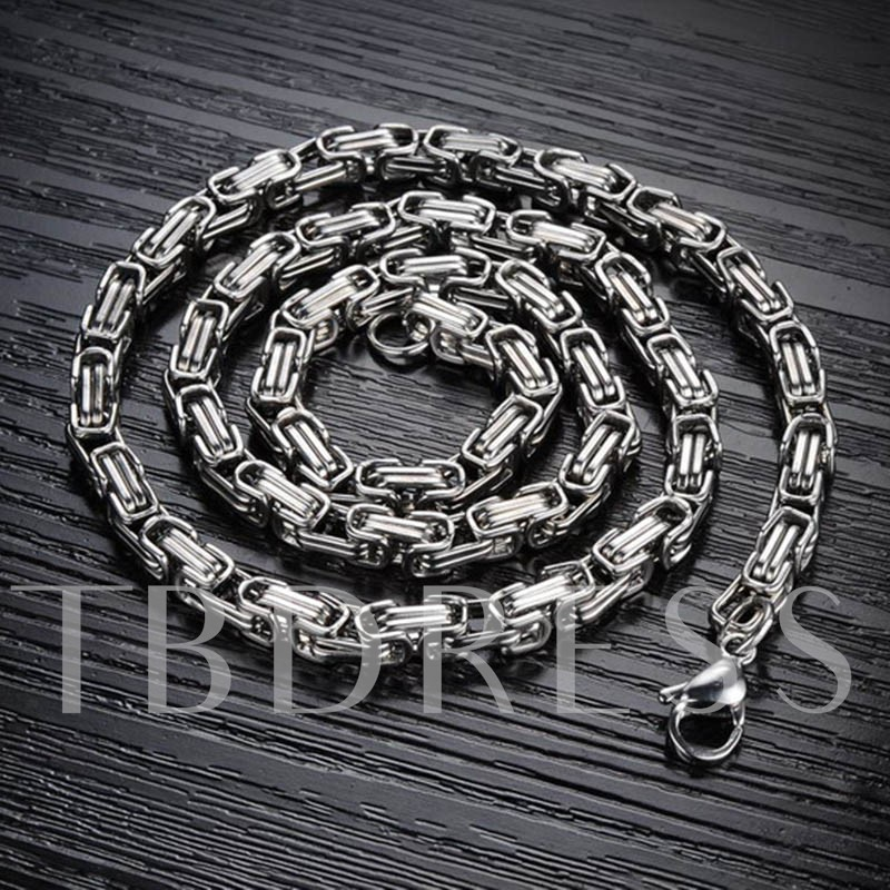 Titanium Stainless Steel Rough Chain Men's Necklace