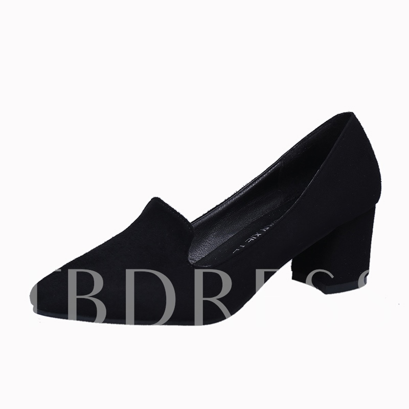 Buy Pointed Toe Thick Heel Solid Pumps, Spring,Summer,Fall, 13075153 for $16.99 in TBDress store