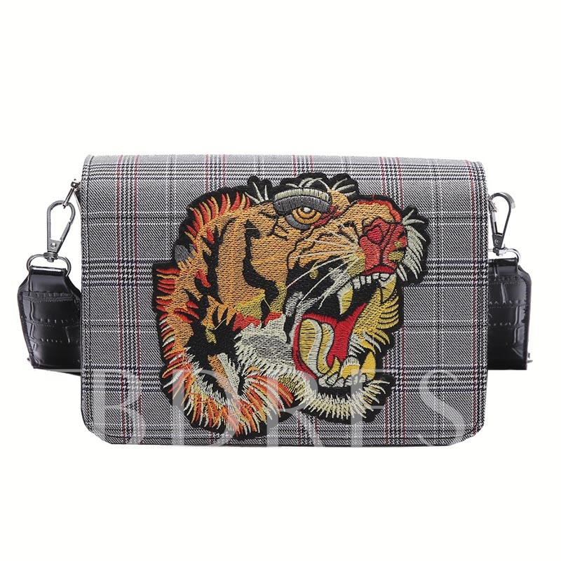 Personality Tiger Embroidery Cross Body