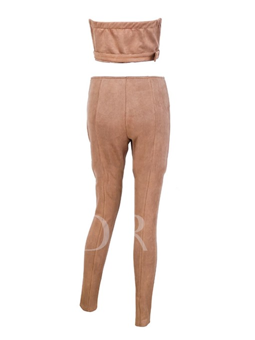 Sexy Skinny Slash Neck Women's Pants Suits