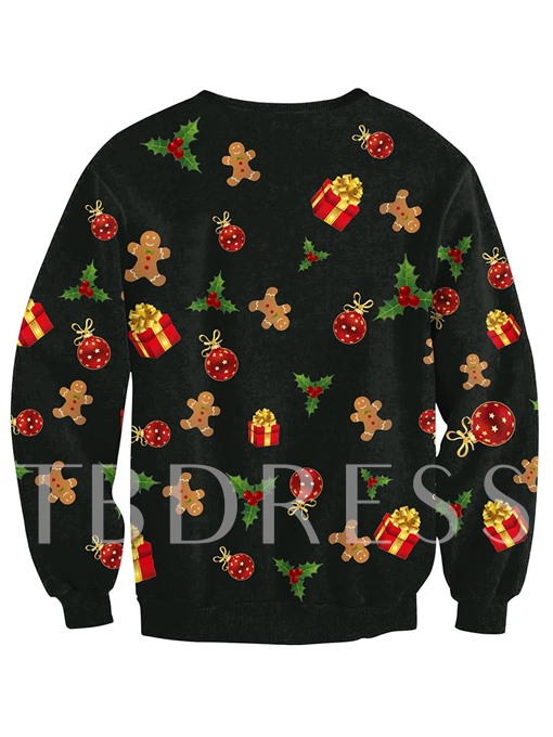 Christmas Tree Long Sleeve Loose Women's Ugly Christmas Sweater