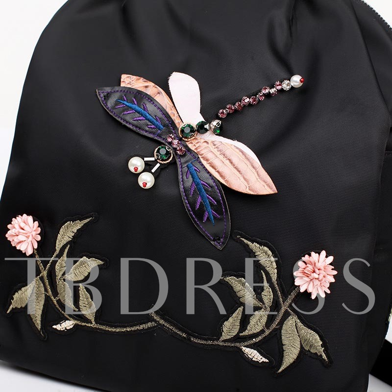Chinese style Embroidery Oxford Women Backpack
