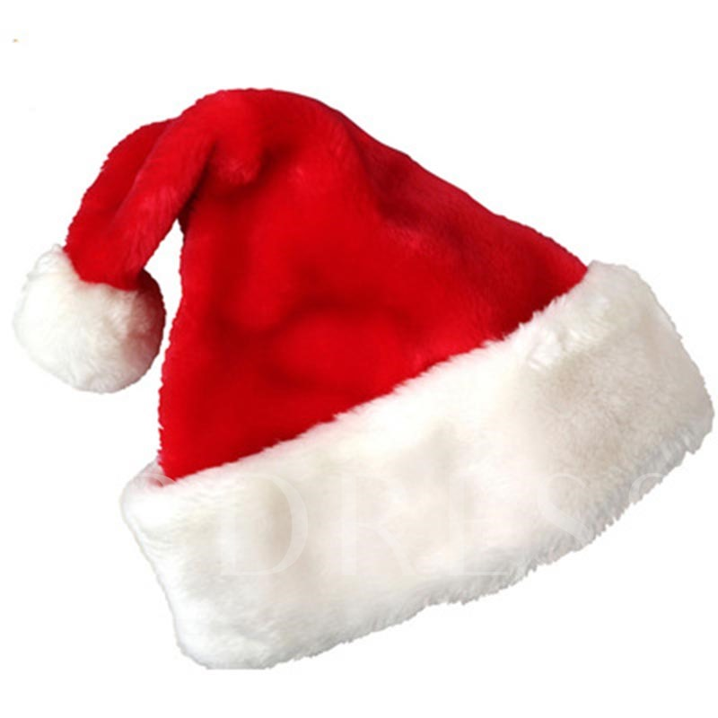 Christmas Plush Color Block Party Decoration Hats