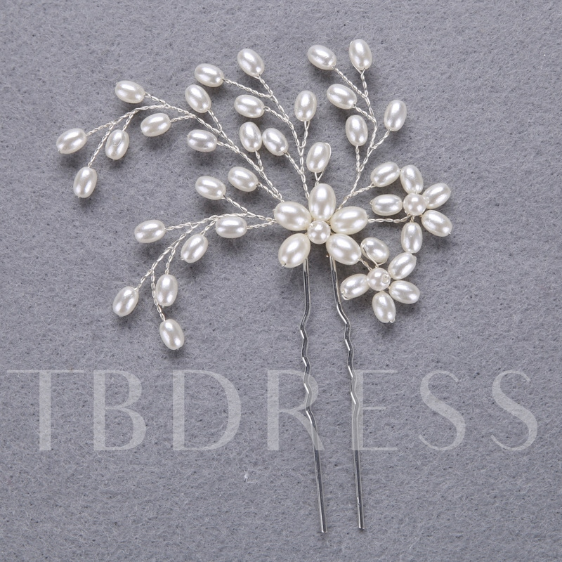 Silver Plated Imitation Pearl Hair Accessories