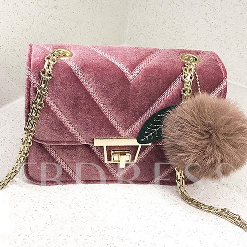 Casual Solid Color Velour Cross Body