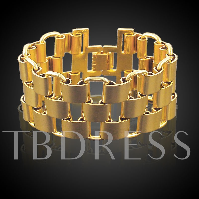 Stainless Steel 18K Overgild Hollow Out African Bracelet